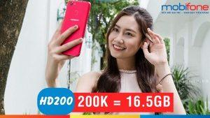 Đăng ký gói HD200 Mobifone tận hưởng 16.5GB data 4G mỗi tháng